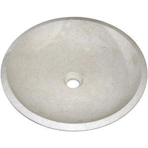 LAVABO - VASQUE Vasque en terrazzo Gela ton pierre