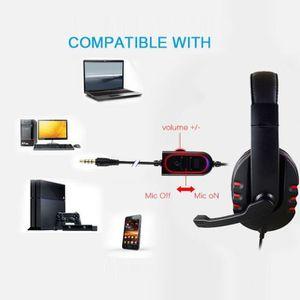 CASQUE AVEC MICROPHONE TZZ60826661   Nouveau Gaming Casque Voix Contrôle