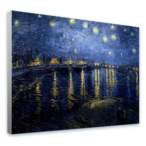 TABLEAU - TOILE Starry Night Over The Rhone Vincent Van Gogh COUVE