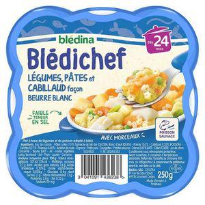 PLATS PRÉPARÉS POISSON BLEDICHEF Légumes pâtes et cabillaud 250g