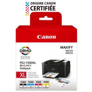 CARTOUCHE IMPRIMANTE Canon Cartouche PGI-1500XL - Noir/Cyan/Magenta/Jau