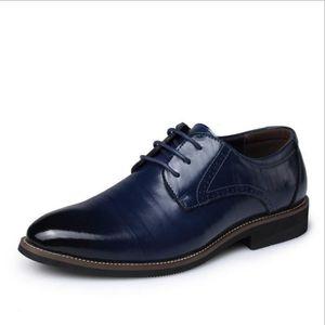 DERBY Chaussures En Cuir Homme Soulier Habillées Chau...