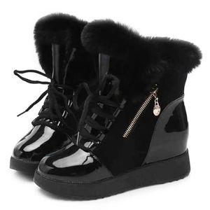 BOTTE Botte de neige Femmes hiver chaud lacets cheville