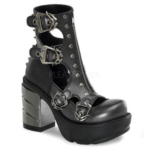 Pu 2 1 Heel PF Inch 2 Demonia 1 Inch Shoe 1 SINISTER 3 ABSl 61 Chromed Moulded 6IIqAzTx