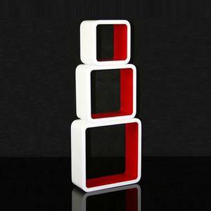 Etagere murale cube rouge achat vente etagere murale - Etagere cube murale pas cher ...