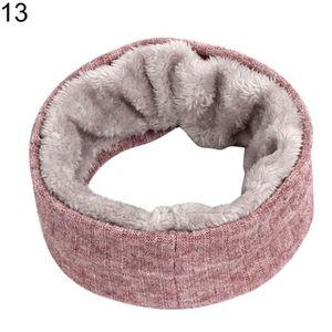 ECHARPE - FOULARD Couleur unie chaude doublure en polaire hiver femm dc37a4e8ed9