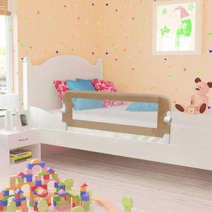 BARRIÈRE DE LIT BÉBÉ vidaXL Barrière de lit enfant Taupe 120x42 cm Poly