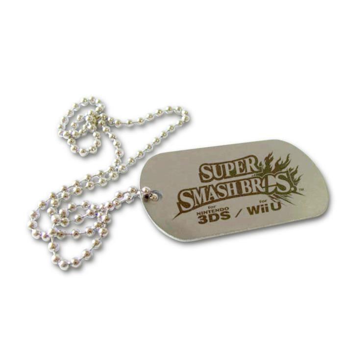 SAUTOIR ET COLLIER Tour de cou Super Smash Bros + Stickers