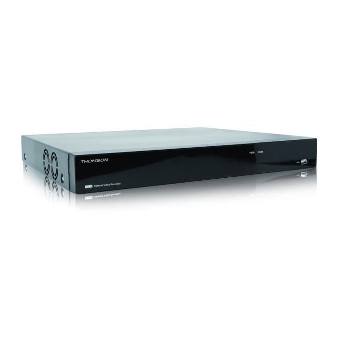 THOMSON Enregistreur vidéo réseau IP NVR avec 16 canaux et disque dur 2TO