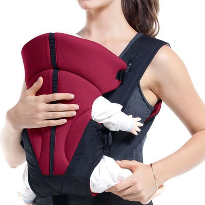 Nouveau-né nourrisson wrap porte-bébé fort respirant ergonomique ... a56dc602d10