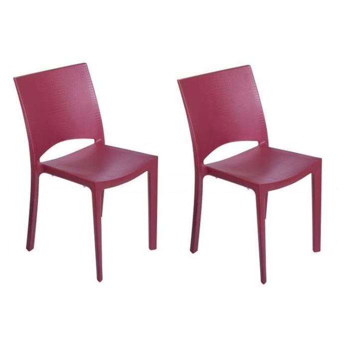 Beautiful Lot De Chaises Rouges Milly Plast With Chaise