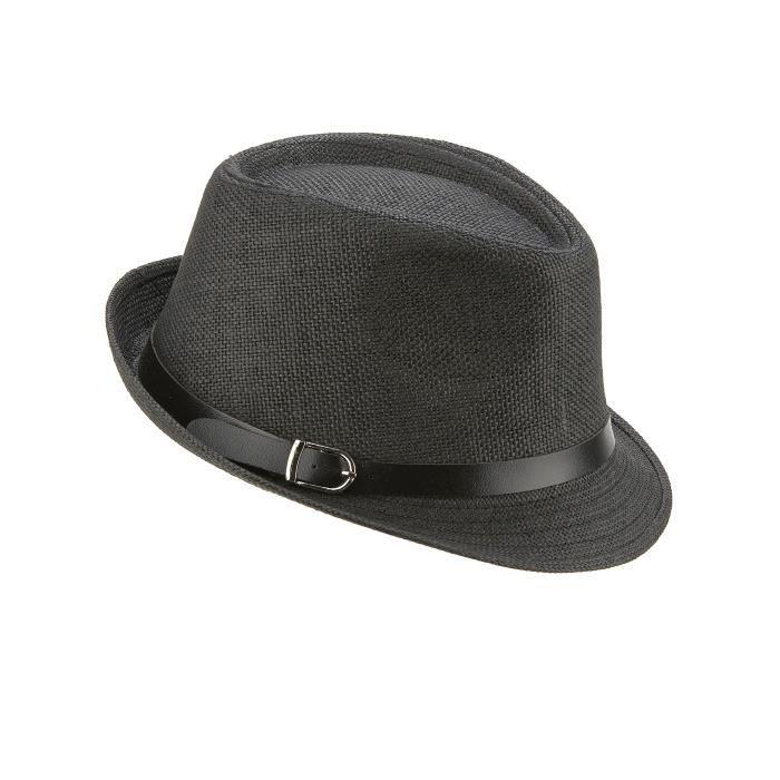 Chapeau borsalino gris avec boucle adulte - Achat   Vente chapeau ... 2bceada90bf