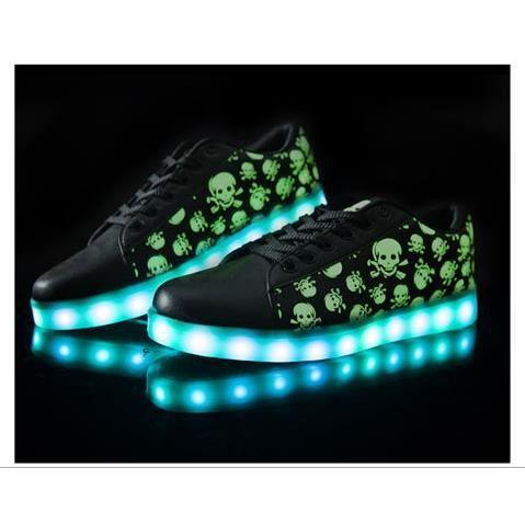 nouveaux chaussures LED pour Enfants support USB Charing chaussures lumineuses éclairent baskets LED szCmM