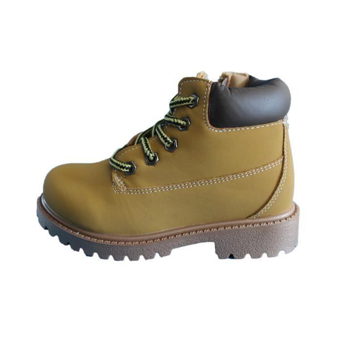 boots marron caramel mixte