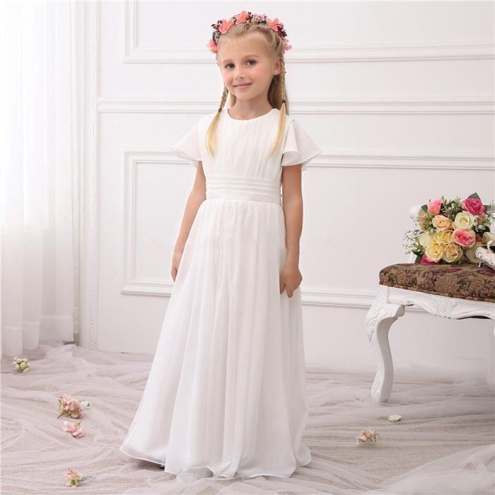 1cbb3ee77c060 Robes de Cérémonie Mariage Filles de Fleur Enfants 2-13 ans ...