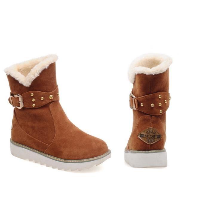 HUIXIN®la fausse fourrure bottes étanches au mode des bottes d'hiver 6s6IR