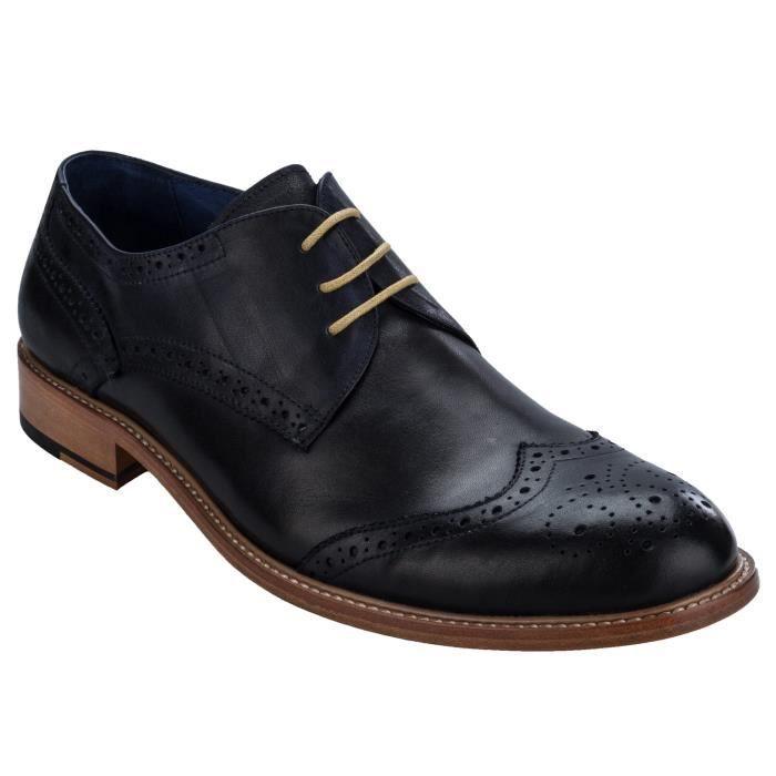 Chaussures basses Stefano derby en cuir pour homme w5mp3Qe