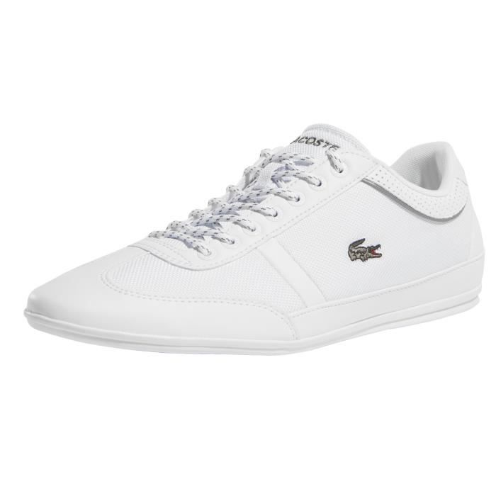 b76aeb2228 Lacoste Homme Chaussures / Baskets Misano Sport I Blanc Blanc ...