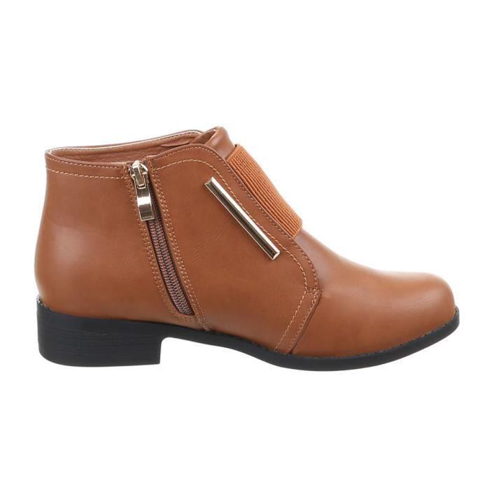 Chaussures femmes Bottine DOUBLÉ bottes marron