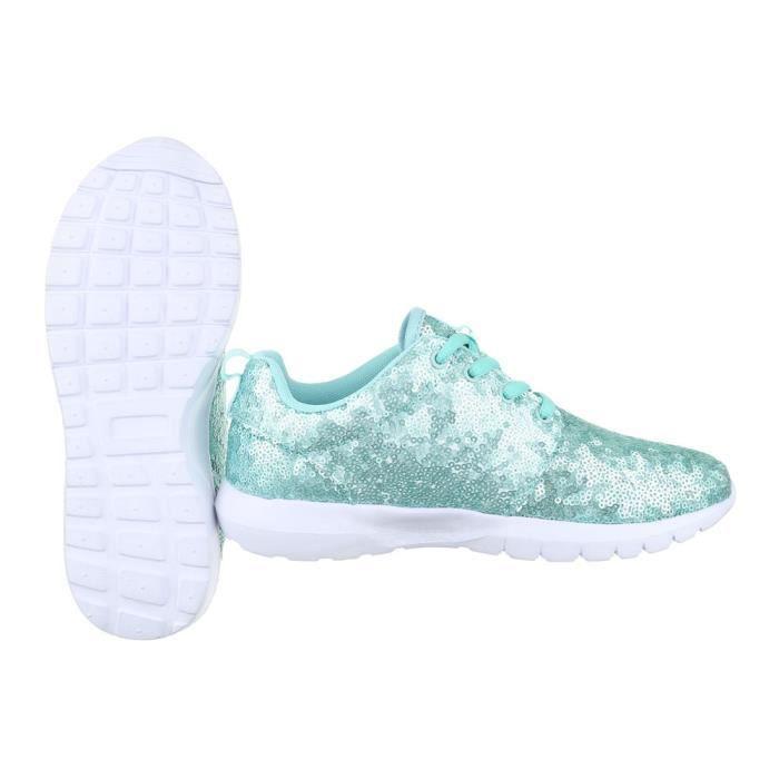 femme chaussures décontractées chaussure coureur Baskets chaussure de sportbleu clair MtDgRB