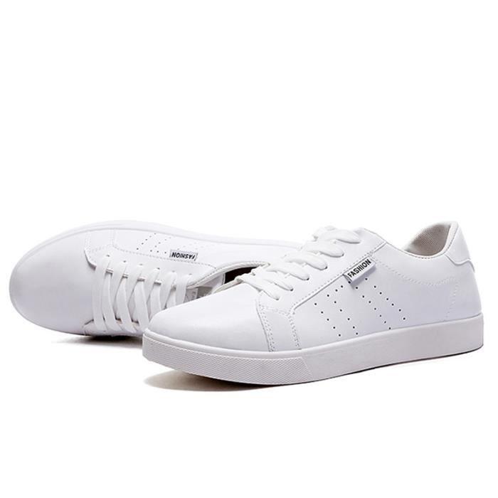 Chaussures De Sport Pour Hommes En Cuir Basket Durable XX-XZ128Blanc39 4IXB82uJb