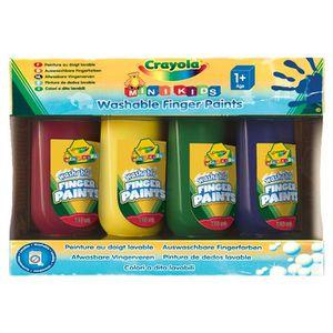 JEU DE PEINTURE CRAYOLA 4 bouteilles de peinture aux doigts