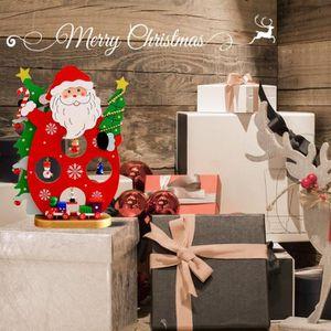 STATUE - STATUETTE Ornement de Noël en bois unique Maison Salon Statu
