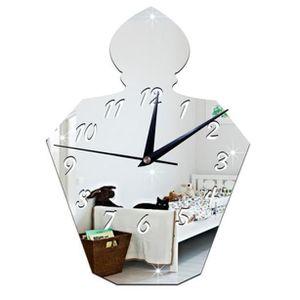 HORLOGE - PENDULE Parfum Bouteille Miroir Horloge Murale Design Mode