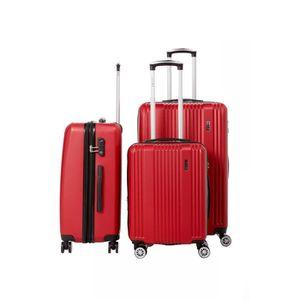 SET DE VALISES Lot de 3 valises rigide 8 roues LYS B1516/3/ROUGE