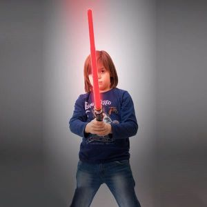 BÂTON - ÉPÉE - BAGUETTE Sabre laser à lumière LED et sons - Lumineux rouge