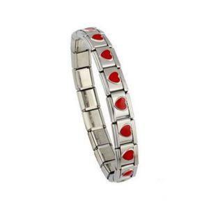BRACELET - GOURMETTE Bracelet italien maillons charms imprimé coeurs ro 29932c3a5dbd