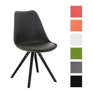 CHAISE CLP Chaise retro PEGLEG SQUARE, en bois noir, méla