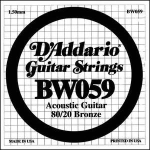 CORDE POUR INSTRUMENT Corde au détail Guitare acoustique D'Addario Filée