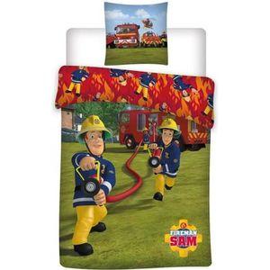 PARURE DE DRAP Parure de lit Sam le Pompier - Housse de couette e