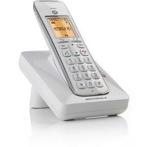 Téléphone fixe Téléphone MOTOROLA Motorola CD201 blanc