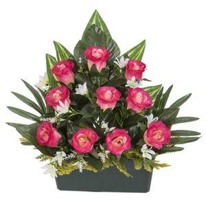 9fc5a95584f71 FLEUR ARTIFICIELLE UNE FLEUR EN SOIE Jardinière boutons de rose - 37
