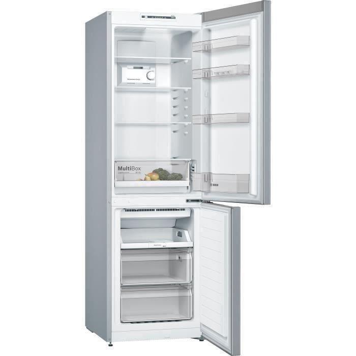 BOSCH KGN36NLEA - Réfrigérateur congélateur bas - 302L (215L + 87L) - Froid NoFrost multiairflow - A
