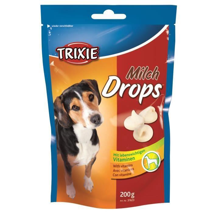 TRIXIE Pastilles Drops au lait - Pour chien - 200g