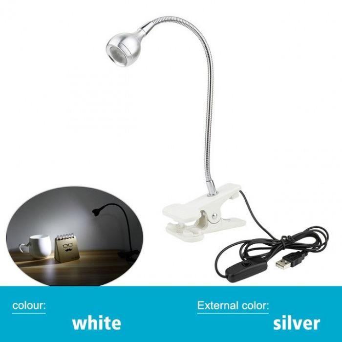 Lampe De Clip 3 Eub Bureau Lecture W Led Lumière Livre Avec Flexible De2EHYbW9I
