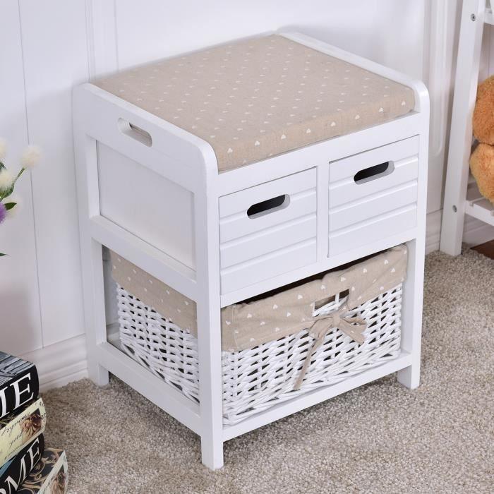 banc de rangement avec panier achat vente banc de rangement avec panier pas cher cdiscount. Black Bedroom Furniture Sets. Home Design Ideas