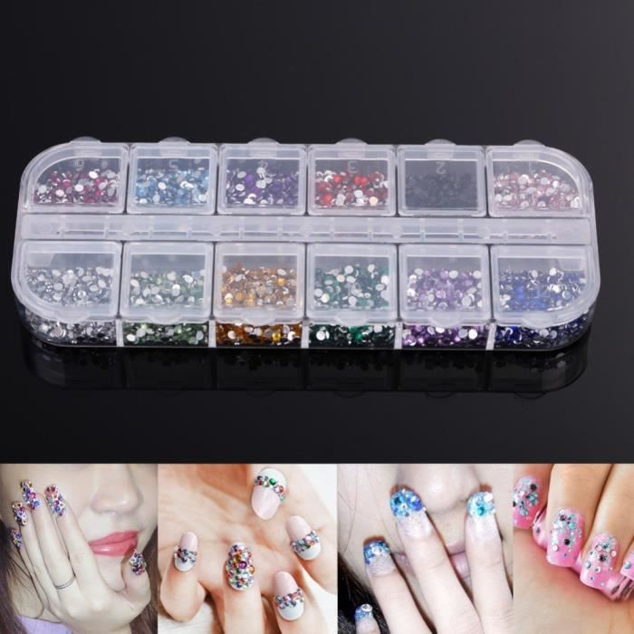Attrayant STICKERS   STRASS 3000pcs Strass Déco Pour Ongles Faux Naturels Gel