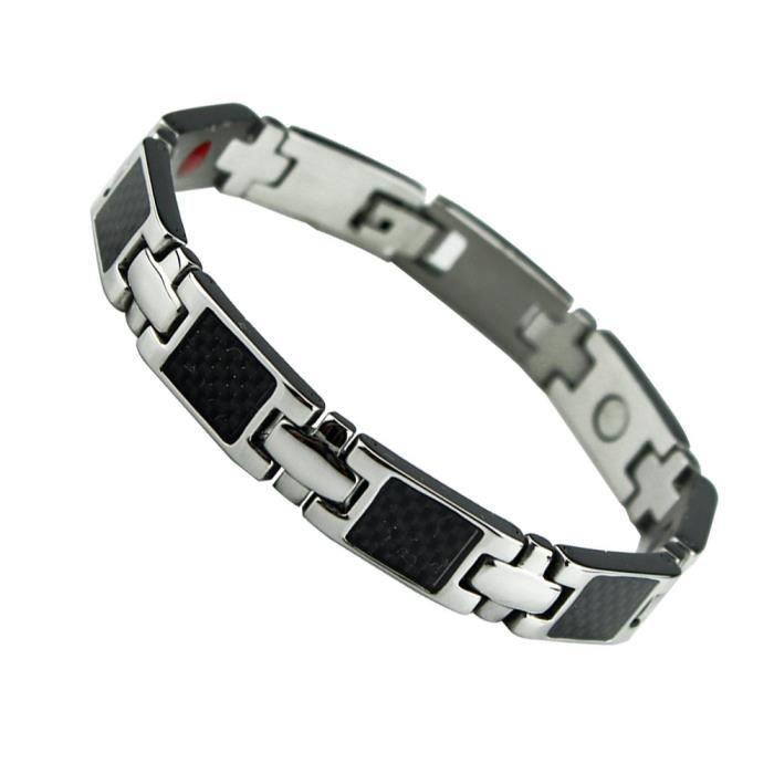 design intemporel 65d9d 9fdbb Bracelet magnétique avec aimants - modèle carbone luxus