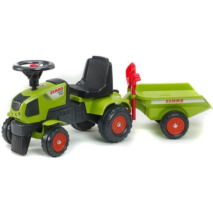 Falk porteur tracteur enfant claas axos 310 remorque - Remorque tracteur enfant ...