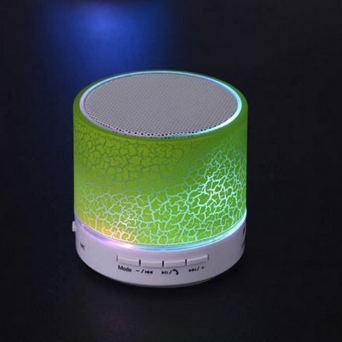 (vert) Dazzle Mini Haut-parleurs Légers Haut-parleur Portable Bluetooth Sans Fil Subwoofer Mobiles De Cartes