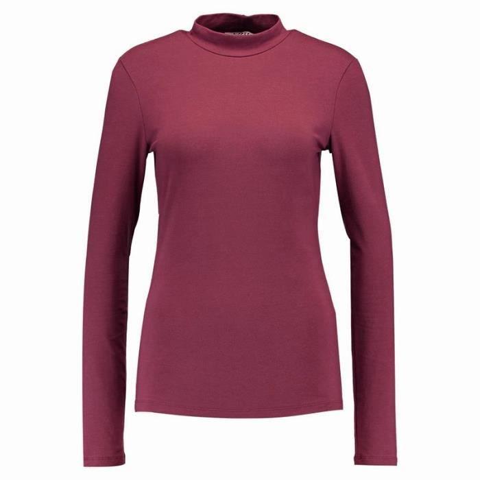Tee-shirt Sirena Col montant Bordeaux Femme Pieces Rouge Rouge ... 17983e95e170