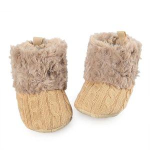 XZ725B3XZ725B3Hot Enfants Bébés filles Enfant d'hiver chauds Bottes de neige Toison Knit Chaussures Crib cheville haF1ljg