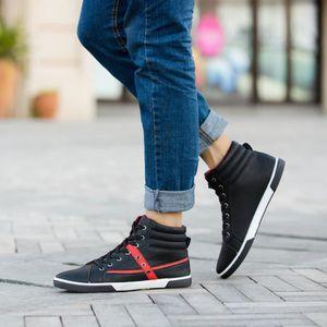 Hommes Chaussures Mode Hommes Bottes Automne Cuir Chaussures Haut Haut Casual Chaussuresblanc WE192 7V4v4VwqE