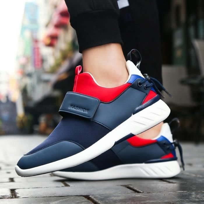 Skateshoes Homme Velcro Casual Round Toe Shoesantiusure Sneakers bleu taille41