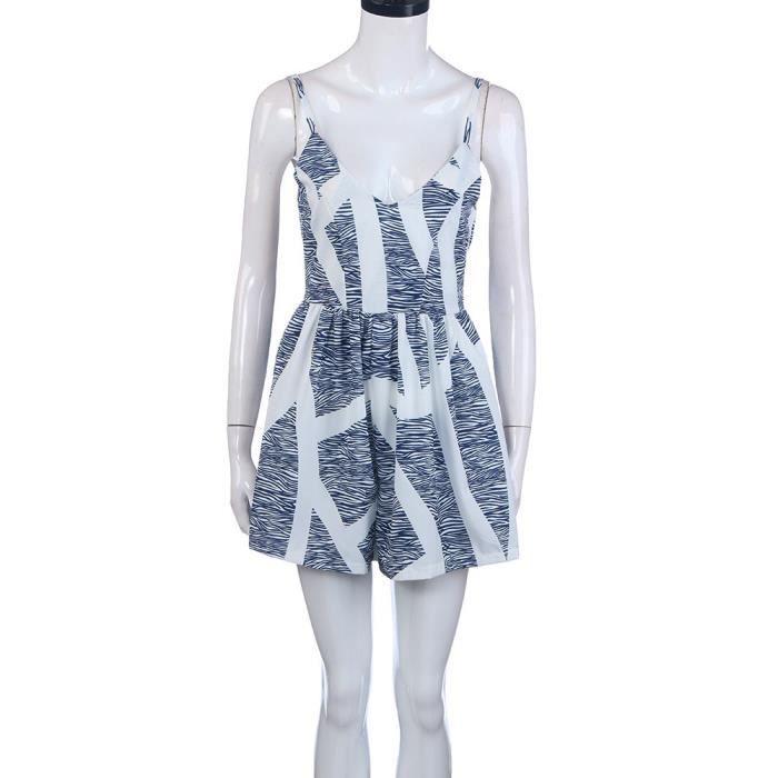 Robe Femmes Sans Blanc De Pour Plage Manches Yll70310524 fgb7Y6y