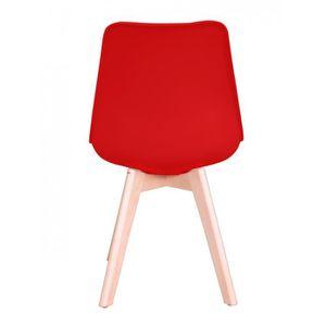 lot de 4 chaises rouge achat vente pas cher. Black Bedroom Furniture Sets. Home Design Ideas